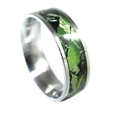 Camo ring Unisex Hunting Camouflage 7mm Wedding Band Ring Army Real Forest New