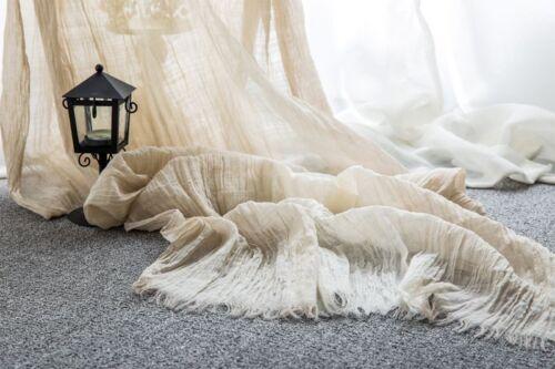 Schal aus langstapeligem Baumwolle Crinkle 190x100cm Damen Herren Halstuch