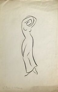 Lucienne-Pageot-Rousseaux-Drawing-Original-Ink-And-Pencil-L-039-Ame-2