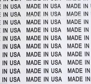 Made In Usa Mini Small Business Self Adhesive White Stickers Tags