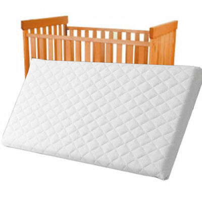 Crib Mattress Baby Toddler COT Bed Breathable Quilted and Waterproof Foam Mattress Crib Mattress Nursery Baby Breathable Waterproof Cradle Pram Swing Mattress Size 80 X 35 X 4 cm