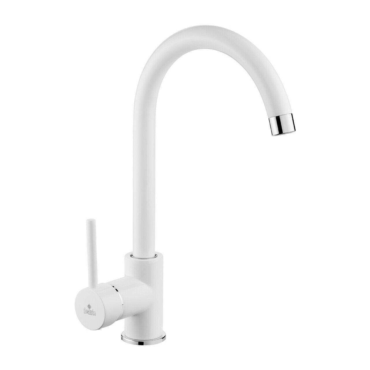 Weiße Einhandmischer Küchenarmatur Spültischarmatur Spülen Wasserhahn  MILIN  | Sonderkauf  | Neuer Eintrag  | Elegantes und robustes Menü  | Ausgezeichnet (in) Qualität