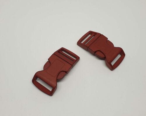 Steckschnalle klickverschluß 25mm marrón