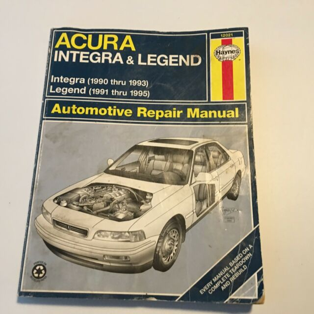 Repair Manual Haynes 12021 Fits 91-95 Acura Legend For