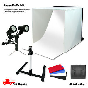 24 inch Photo Tent with background cloth for Table Top Photography Studio Light Tent Kit