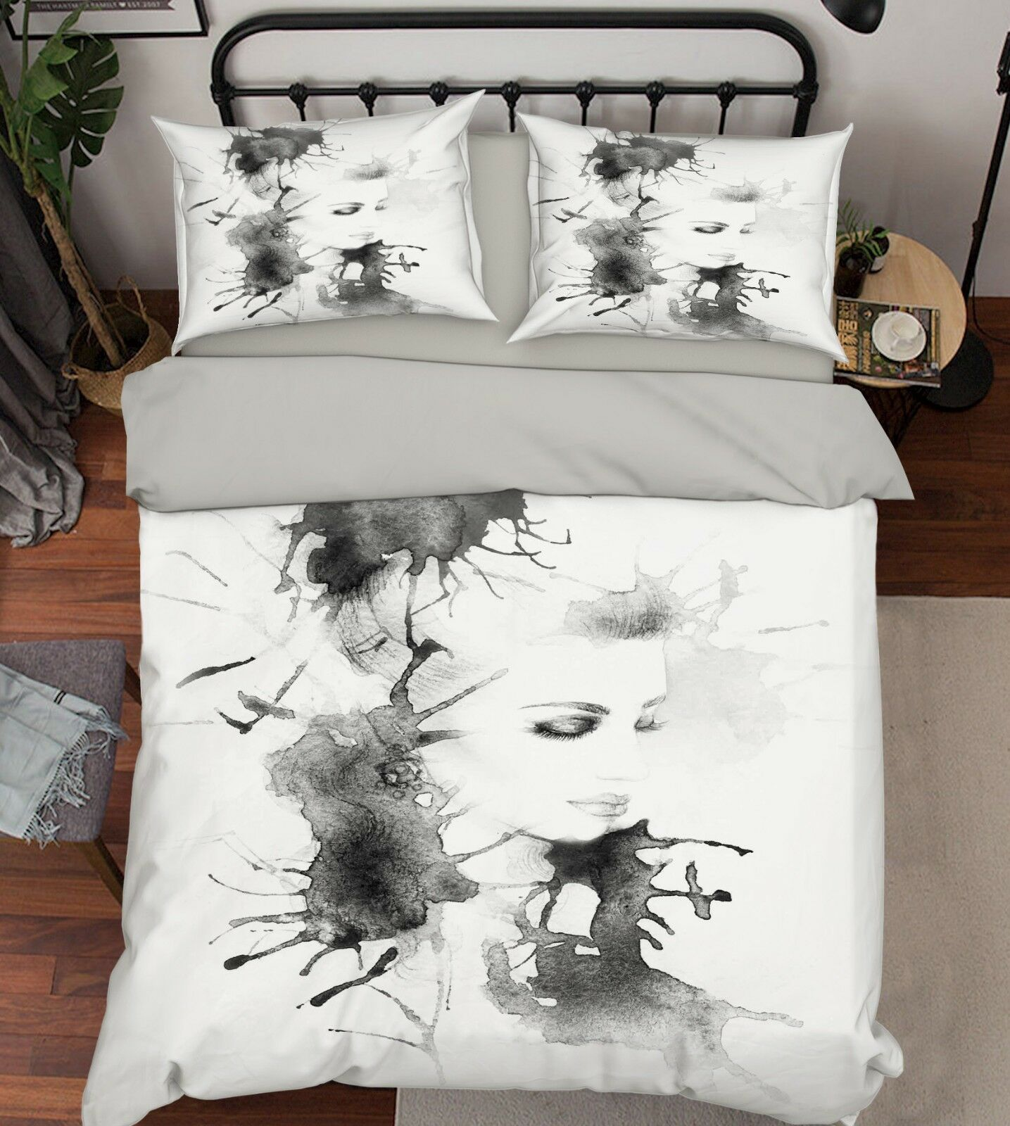 3D Ink Girl Art 87 Bed Pillowcases Quilt Duvet Cover Set Single Queen AU Carly
