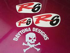 R6 SET RED & BLACK TOP FAIRING NOSE CONE SEAT UNIT DECALS STICKERS
