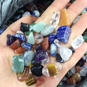 100g Natural Colorful Mixed Tumbled Agate Crystal Bulk Mix Assorted Gem  healing