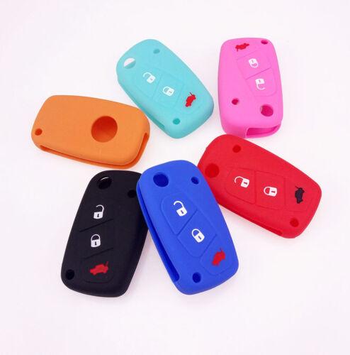 Schlüssel Cover Car Key Silikon Schutz Hülle für FIAT IDEA MINIBUS GRANDE STILO