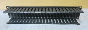 2U-Horizontal-Finger-Duct-Rack-Cable-Management-Panel-Black-Without-Cover
