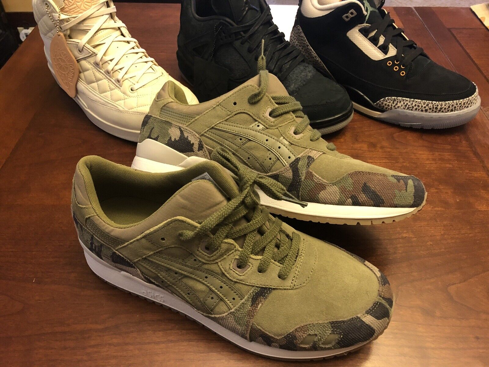 Asics Gel Lyte III 3 Martini Olive Green Sneakers Men New shoes HL7W0-8686 Sz 11
