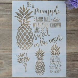12x8-Pineapple-Flower-Sweet-Quote-Decorating-and-Craft-Stencils-Bakell