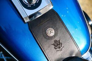 Harley Davidson USN United States Navy Leather Gas Tank Panel Bib with Concho