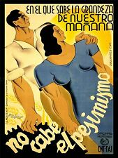ADVERT WAR SPANISH CIVIL REPUBLICAN FAMILY FUTURE ART POSTER PRINT LV7113