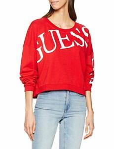 Guess Jeans Womens Triangle Logo Sweatshirt White Red Worldwide