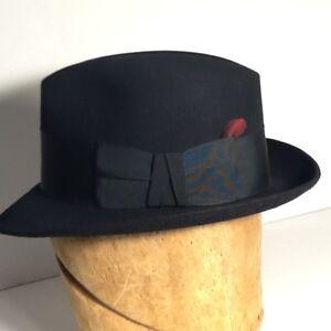 236d440618e Vintage Hat Vintage Fedora Resistol Size 6-7 8 self conform Black ...