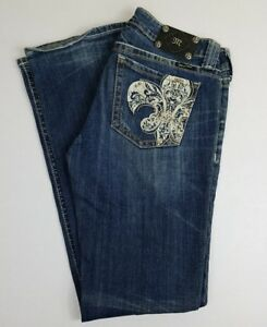 bca3b5ffa0f Women's Miss Me Jeans Size 30 Boot Cut Medium Wash Distressed ...