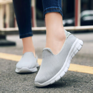 women's athletic breathable sneakers flats slip on sports