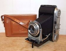 VOIGTLANDER BESSA II Camera w/Orig LEATHER CASE, Color-Heliar, 1:3.5, 105mm, 6x9