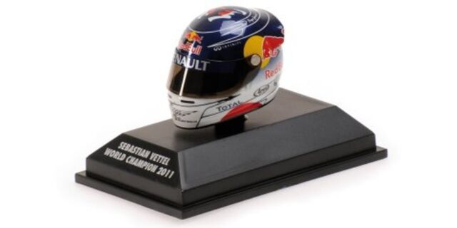 MINICHAMPS 381 110301 ARAI F1 drivers Helmet S Vettell WC Suzuka GP 2011 1:8th