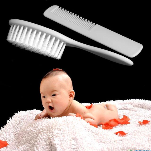 2Pcs//set Safety Soft Baby Hair Brush Infant Comb Grooming Shower Design Pack Kit