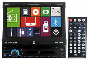 Dual-XDVD600-Single-Din-7-034-In-Dash-Flip-Out-Car-DVD-Receiver-Monitor-w-Bluetooth