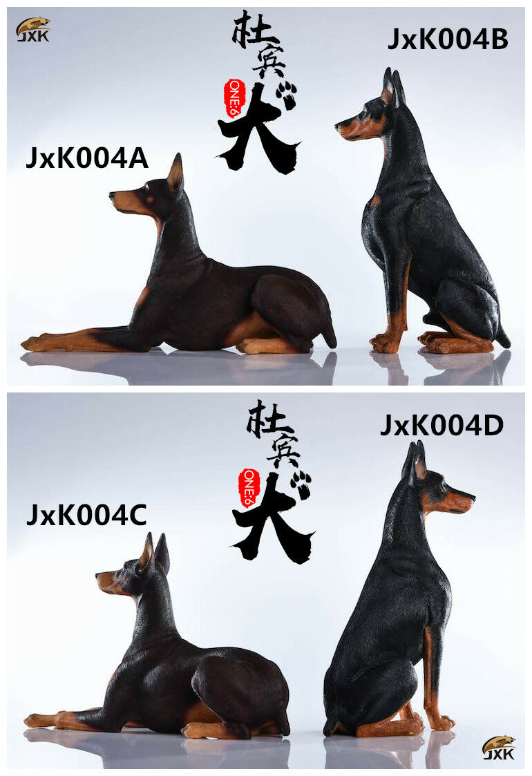 1 6 Scale JxK JxK004 Doberman Pinschers Dog Animal Model Toy Gift