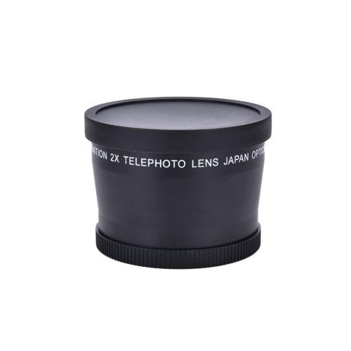 2x 58mm 2.0x Magnification Telephoto Tele Converter Lens for Digital Camera QA