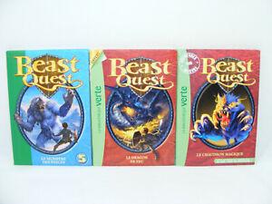 Lot-de-3-livres-BEAST-QUEST-Dragon-Chaudron-Bibliotheque-verte-2000-039-s-LDVELH