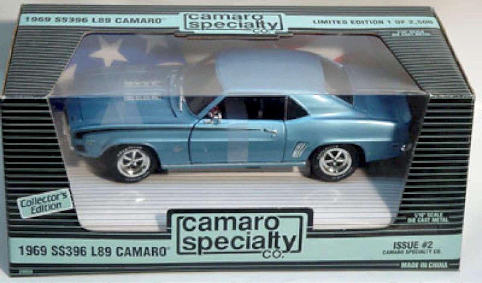 Ertl 1   18 1969 chevy camaro ss396 l89 blau 29050 spezialität   2 amerikanische power.