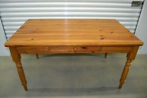 Ethan Allen Farmhouse Pine Small Dining Table Writing Desk Pine 23 6023 223 Ebay