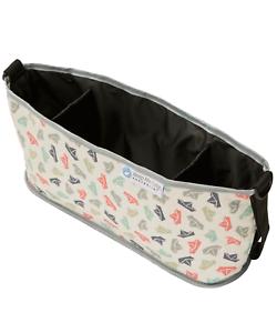 Keep-Me-Cosy-Pram-amp-Stroller-Organiser-Cup-Holder-Caddy-Bag-Paper-Boat
