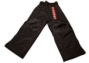 Black-Rugged-Bear-Snow-Ski-Water-Proof-Pants-Size-4-5-Kids-Youth-Polyester-NWOT