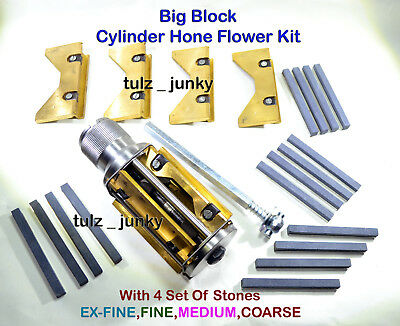 ENGINE BLOCK CYLINDER HONE KIT 34 to 60 EXPANDING RANGE WITH EXTRA CARRIER SET