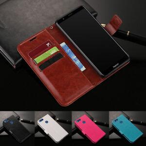 Per-Huawei-Honor-7-8-9-10-Lite-slot-per-schede-magnetiche-WALLET-FLIP-CUSTODIA-IN-PELLE-COVER