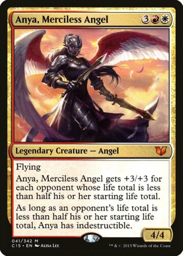 Anya Merciless Angel Commander 2015 NM-M White Red Mythic Rare CARD ABUGames