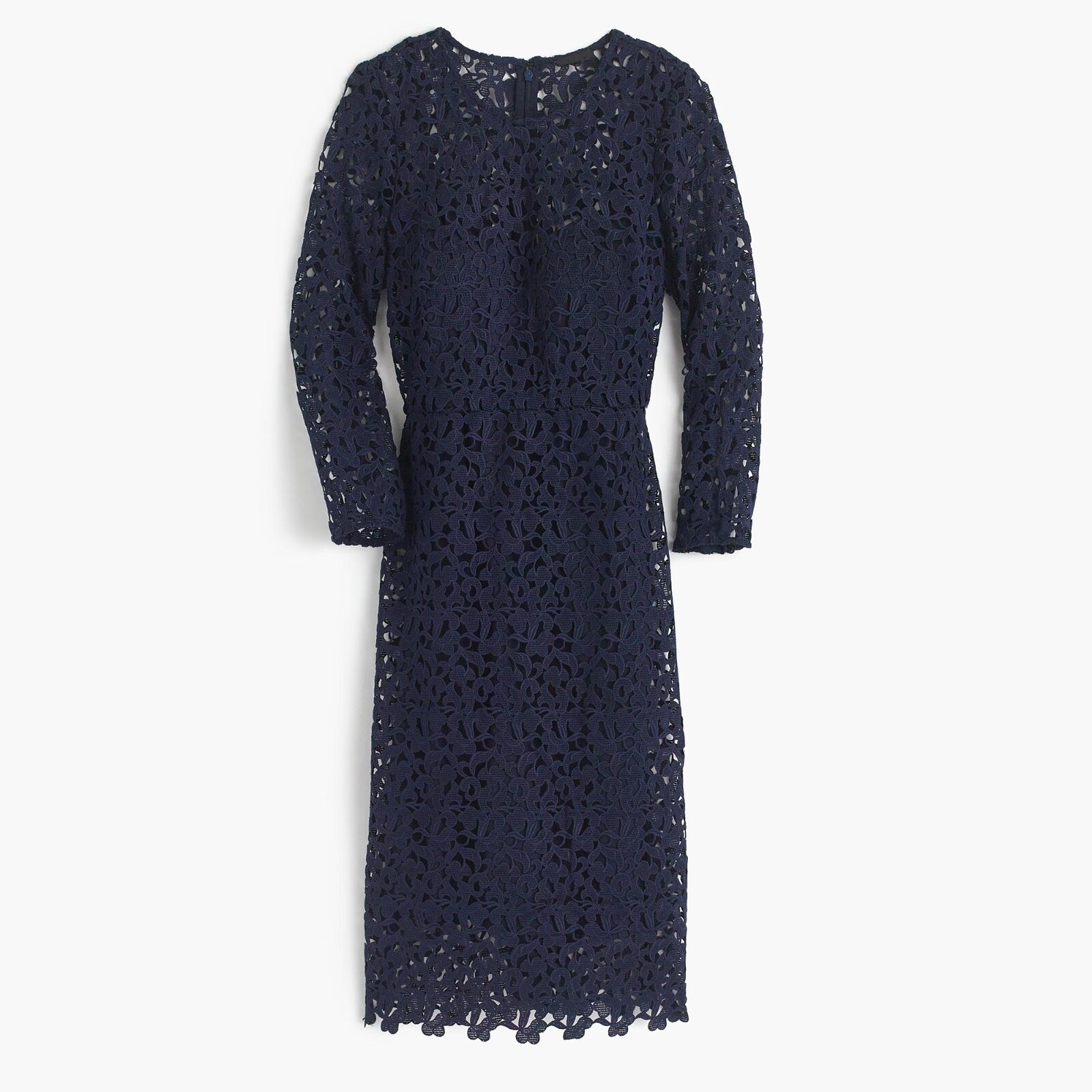 NWT NWT NWT J.Crew Collection Lace Sheath Dress Size 00 NAVY fee5b3
