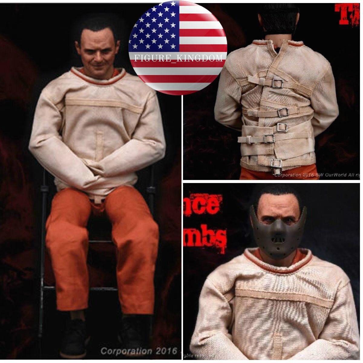 1/6 el silencio de los corderos Hannibal ANTHONY HOPKINS figura completo Conjunto de EE. UU.