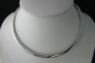 "925 Stiff Silver Collar 4.5 Grams  5/"" Inches Inches Wide"