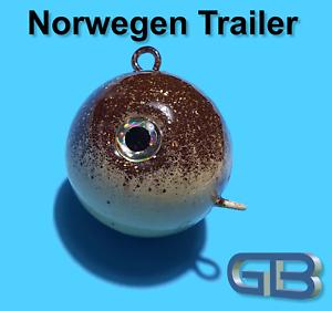 Norwegen Trailer 50g 70g 90g 110g 140g 170g Sea Trailer Kugelblei mit Öse