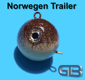 Norwegen-Trailer-50g-70g-90g-110g-140g-170g-Sea-Trailer-Kugelblei-mit-Ose