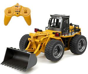Ferngesteuerter-Radlader-A183-RC-Bagger-Radbagger-mit-Metall-Schaufel-amp-Sound