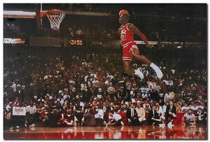 Image Is Loading Michael Jordan Famous Foul Line Dunk Vintage Sport