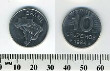 Brazil 1984 - 10 Cruzeiros Stainless Steel Coin - Map of Brazil