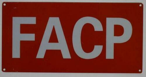 Details about  /FACP Sign -ref0420 Aluminium Reflective, RED 6X12