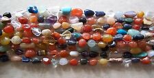 "16"" Strand Mixed Multi Gemstone Tumbled Nugget Beads 12mm-20mm ~ Imperfect"