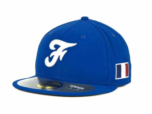 France Men/'s New Era 59FIFTY World Baseball Classic Fitted Hat Cap Light Royal
