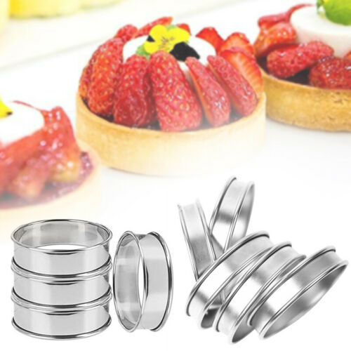 Egg Pancake Biscuit Crumpet Cutter TartRings Mold English Muffin Rings 4Pc Set