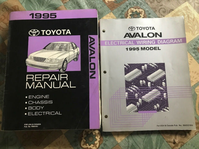Toyota Avalon Repair Manual Electrical Wiring Diagram 1995 Dealership Service