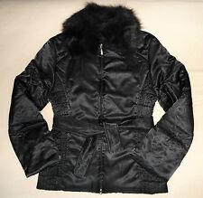 Steppjacke Luxus Winterjacke gesteppt Designer Jacke Pelzkragen schwarz S *wNEU*